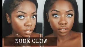 glam glowing skin makeup look