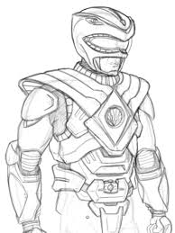 Mighty Morphin Power Ranger Coloring Pages Coloring Page For Kids