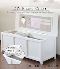 DIY Filing Chest | Small spaces, Spaces and Organizations