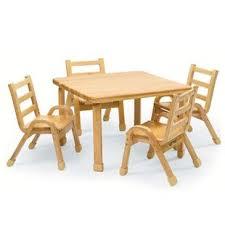 NaturalWood 30\ Toddler Chair And Table Set | Wayfair