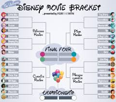Disney Movie Chart The Ultimate Disney Bracket Round Of 32 For The Win