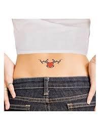 červené Srdce Tribal Nalepovací Tetování