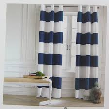 Navy And White Curtains Tommy Hilfiger Wide Stripes Curtains 2 Panels 50 By 84 Inch Eyelet