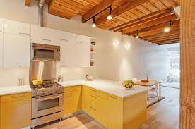 Orange Kitchen Contemporary Kitchen Best Modern Yellow Accent Kitchens Design