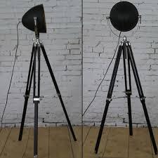 Us 61654 Nieuwe Aankomst Statief Vloerlamp Hout Houder Handcraft E27 Staande Lampen Witzwart Vloerlampen Voor Woonkamer Studio Decoratie In Nieuwe