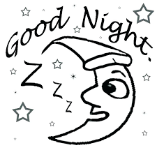 goodnight moon coloring pages for preschoolers sun and free sheets