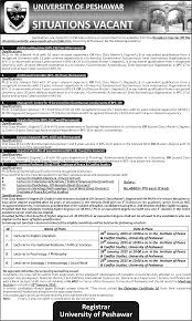 situation vacant in university of peshawar pakhtunkwa add