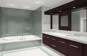 modern shower head recessed bathroom lighting. Bathroom Remodeling Dark Brown Vanity With Storage Drawers Mirror Recessed Lights Gray Ceramic Backsplash Tile Bathtub Modern Shower Head Lighting T