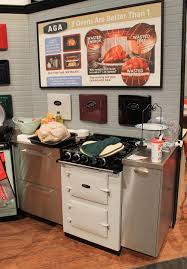 Retro Kitchen Appliance Aga Colorful Ranges And A Retro Kitchen At Kbis Retro Renovation
