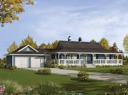 Small Picture Ranch House with wrap around porch and basement House Plans