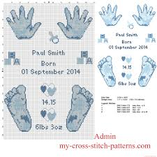 Cross Stitch Birth Announcement Patterns Free Interesting Decorating Design