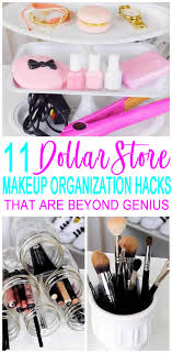 dollar makeup organization ideas