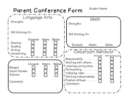 parent conference template best 25 parent teacher conference forms ideas on pinterest