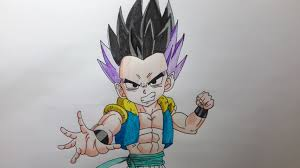 Comment Dessiner Gotenks Tape Par Tape Dragon Ball Youtube