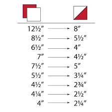 Half Square Triangle Cutting Chart Hst Size Chart Awesome These Are The Hst Made When You