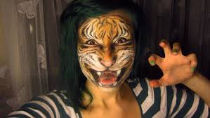 realistic tiger makeup