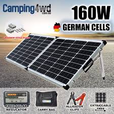 12v 160w solar folding panel caravan boat camping power mono charging kit 6604977571071
