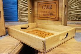 gwr temple meads bristol vintage railway wooden tray storage box desk or kitchen