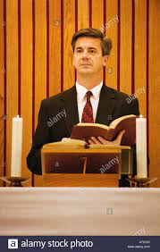 Pastor Pulpit High Resolution Stock ...