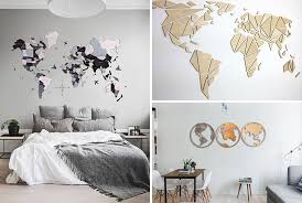 A bevy of baskets brings ample texture to a room. 25 World Map Wall Art Designs Made From Wood