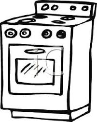 stove clipart black and white. black and white oven stove clipart image t