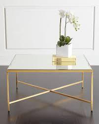 larissa mirrored coffee table gold mirror interlude accent antique blue 4a4113f827f4db13ef9b62d2a67