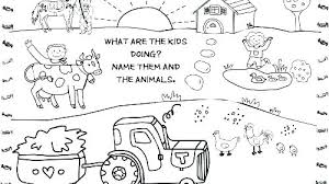 Farm Animal Coloring Page Free Coloring Pages Farm Animals Coloring