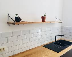 Beautiful Simple Wall Shelf Made Of Solid Oak And Hand Processed Metal Mounts