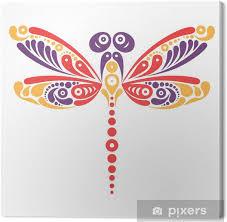 Obraz Krásná Vážka Tetování Umělecký Vzor Ve Tvaru Motýla Na Plátně