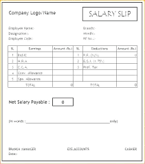 Payment Slip Format In Word Adorable Payslip Template Hergartenco