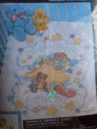 NEW-JANLYNN-CROSS-STITCH-QUILT-KIT-WINNIE-THE-POOH-FLUTTERING ... & Dimensions TWINKLE TWINKLE Stamped Cross Stitch Baby Quilt Kit 34x43  #Dimensions #Quilt Adamdwight.com