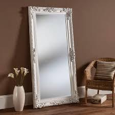 white full length mirror. Contemporary Mirror White Framed Mirror Full Length 175 X 83cm With L