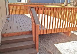 trex deck with redwood handrails in flagstaff arizona by highwood construction hand rails for decks f91