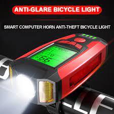 Yeni bisiklet ışığı ile bisiklet bilgisayar kilometre bisiklet lambası led  ön far dijital bisiklet kilometre sayacı