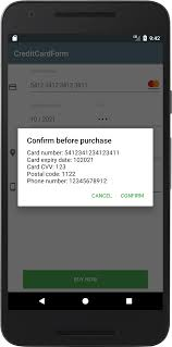 android credit card form