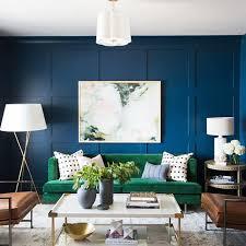 blue living room paint