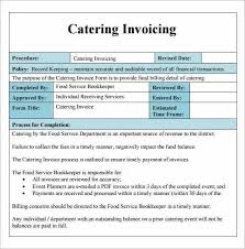Catering Invoice Example Invoice Template For Catering Business 1685