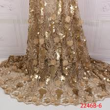 Golden Shining Sequence <b>Lace</b> Fabric Beaded French <b>Laces</b> ...