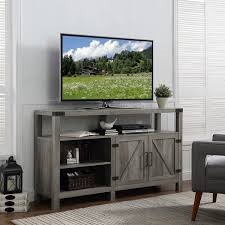 barn door media center. 58-inch Barndoor Highboy TV Stand Media Console Barn Door Center