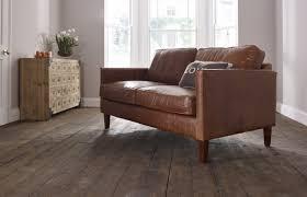 columbus small leather sofa