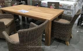 costco outdoor furniture diy 7 piece teak dining set