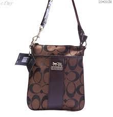Coach Fashion Logo C Small Brown Multi Crossbody Bags