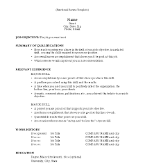 Functional Template Resume