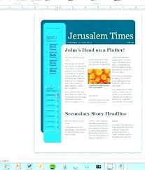 Microsoft Word Newspaper Template Newspaper Microsoft Word Template Metabots Co