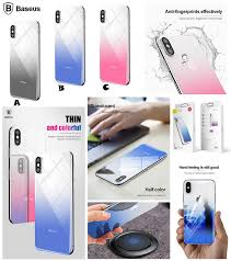 baseus iphone x 9h hd coloring tempered glass grant rear back