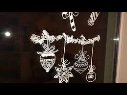 Fensterdeko Mit Flüssigkreide Kreidestift Weihnachtsmotive