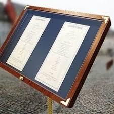 Menu Display Stands Restaurant A creative way to display your restaurant's menu outdoors DIY 71
