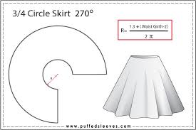 Circle Skirt Chart Circle Skirt Construction Calculating The Radius Knowing