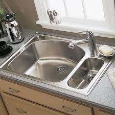 KOHLER Delafield DropIn CastIron 33 In 4Hole Double Bowl Home Depot Kitchen Sinks Top Mount