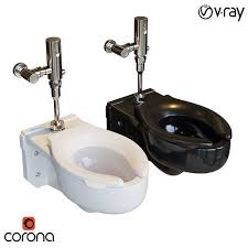 commercial wall mounted toilet 3d